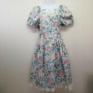 Bonnie Jean Puff Sleeve Peasant Cottagecore Dress